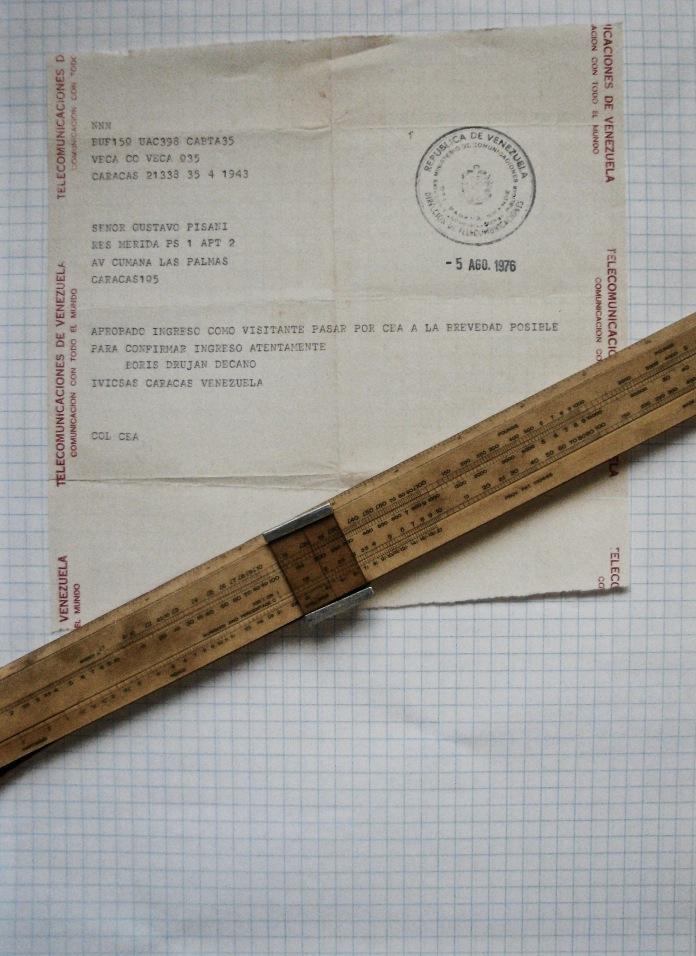 IVIC Telegrama de aceptación - 5 Agosto 1976